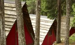 Il campeggio a tende fisse.