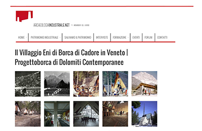 november 20, Archeologia Industriale - Il Villaggio Eni di Borca di Cadore, Progettoborca di Dolomiti Contemporanee