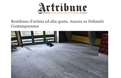 september 9, Artribune - Residenze d'artista ad alta quota