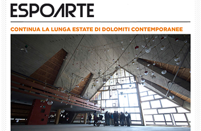 october 8, Espoarte - Continua la lunga estate di Dolomiti Contemporanee