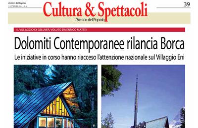 september 11, L'Amico del Popolo - Dolomiti Contemporanee rilancia Borca