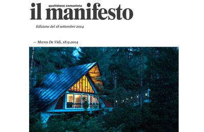 september 18, Il Manifesto - il Vajont diventa un'opera