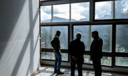 """""""e ultimo venne il bosco"""" - studio visit with Marc Augé - Photo: Giacomo De Donà"""