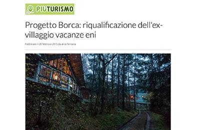 20 febbraio, Piuturismo - Progetto Borca: riqualificazione dell'ex Villaggio Vacanze Eni