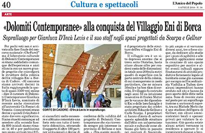 3 aprile 2014 - Dolomiti Contemporanee alla conquista del Villggio Eni di Borca