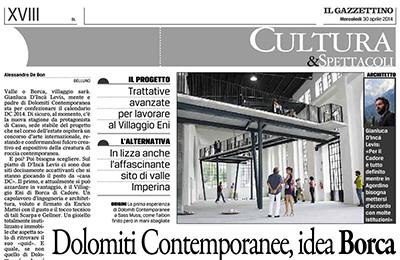 30 aprile 2014 - Dolomiti Contemporanee, idea Borca