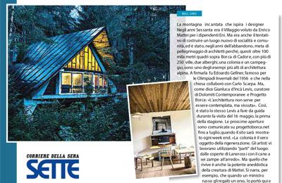 22 maggio, Sette/Corriere della Sera - La montagna incantata che ispira i designers.