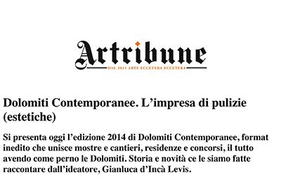 12 giugno 2014 - Dolomiti Contemporanee. L'impresa di pulizie (estetiche)