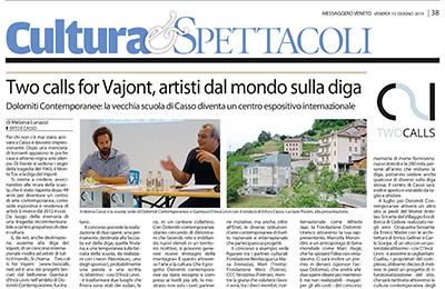 13 giugno 2014 - Two calls for Vajont, artisti dal mondo sulla diga