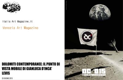 28 giugno, Venezia Art Magazine - Dolomiti Contemporanee: il punto di vista mobile di Gianluca D'Incà Levis
