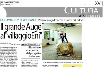 27 luglio 2014 - Il Gazzettino - Marc Augé al villaggio Eni