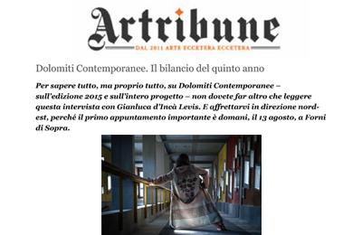 12 agosto, Artribune - Dolomiti Contemporanee, il bilancio del quinto anno