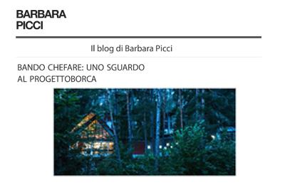 September 15, Barbara Picci - Bando cheFare: uno sguardo al ProgettoBorca