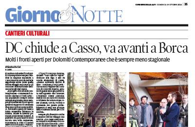 19 ottobre, Corriere delle Alpi - DC chiude a Casso, va avanti a Borca
