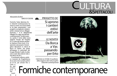 July 12, Il Gazzettino - Formiche contemporanee