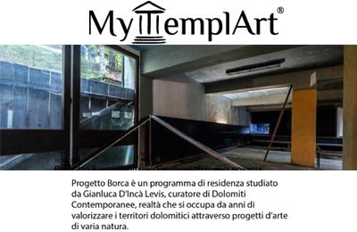 10 luglio, MyTemplArt - Progetto Borca. Il Villagio Eni rivive di nuova energia
