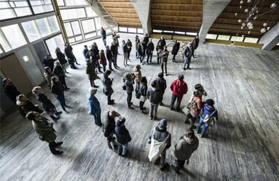 8 novembre - uno di due - visita e open studio al villaggio eni - foto giacomo de dona'