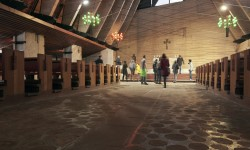 Uno dei sopralluoghi di Progettoborca alla Chiesa di Nostra Signora del Cadore - Foto Giacomo De Donà