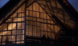 L'Aula Magna, di nuovo illuminata, è il cuore della Colonia che più non dorme. - Foto Archivio DC