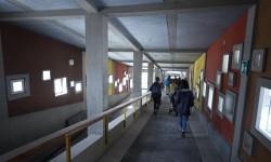 I corridoi che collegano le strutture della Colonia