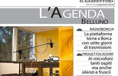 January 16, Il Gazzettino - Radioborcia wintersession