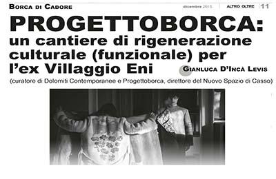 December 12, Altro e Oltre - Progettoborca, cantiere di rigenerazione
