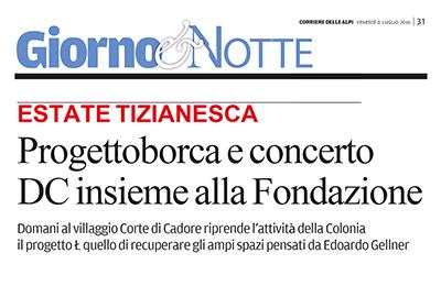 8 luglio 2016 - Corriere delle Alpi