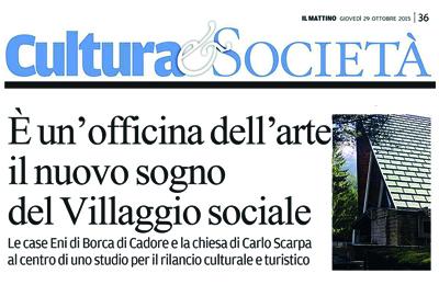 October 29 - IL MATTINO DI PADOVA - officina dell'arte