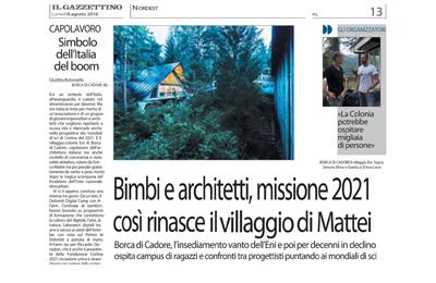 8 agosto 2016 - Il Gazzettino edizione nazionale