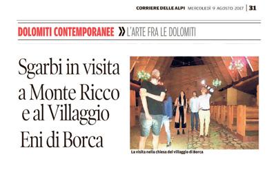 9 agosto 2017 - Corriere delle Alpi