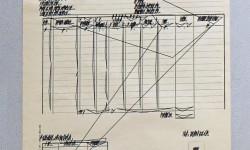 Riparametrizzazione del documento di carico scarico. Rotring 0.4 e china nera.